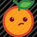 emoticon, cute, funny, suspicious, orange, emoji icon