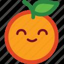 cute, emoji, emoticon, funny, happy, orange, smile