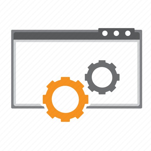 Browser, cogs, it, loading, seo, web icon - Download on Iconfinder