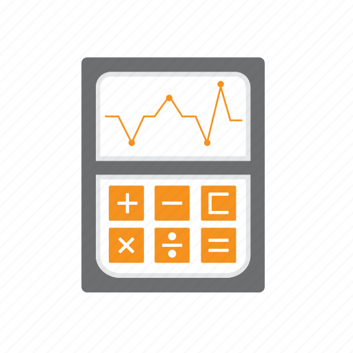 calculator, digital, equation, graph, maths, seo icon