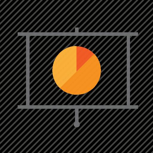 chart, down, pie, presentation, pull, seo icon