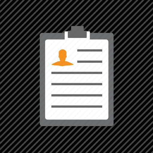 board, clip, clipboard, cv, profile, resume, seo icon
