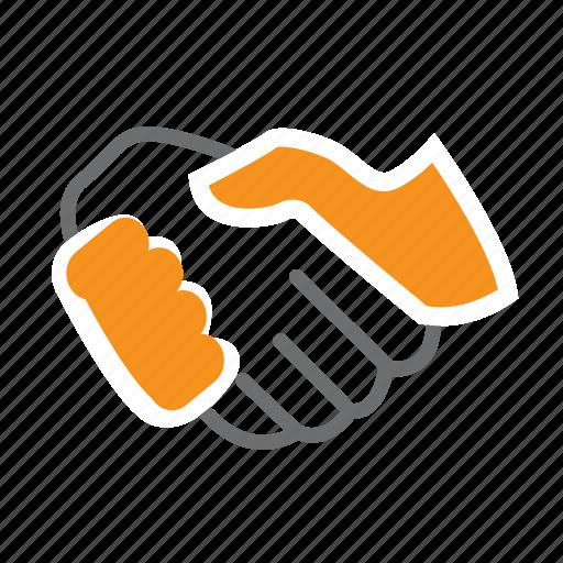 hand, handshake, it, join, partner, seo, shake icon
