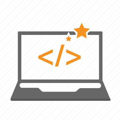 coding, computer, imac, laptop, mac, seo, star icon