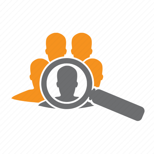 find, it, magnifying, recruitment, seo icon