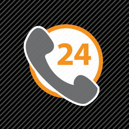 call, call-center, center, emergency, hours, seo, twentyfour icon