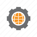 basketball, cog, it, planet, seo, world, worldwide icon