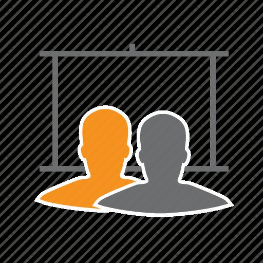 Board, men, presentation, seo, white icon - Download on Iconfinder