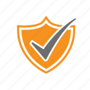 certified, digital, safe, security, seo, shield, tick icon