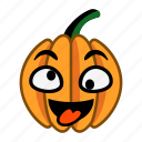 crazy, down, eyes, foolish, pumpkin, toungue, up icon