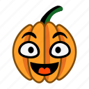 character, cheerful, cute, happy, pumpkin, smile, vegetable icon