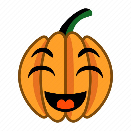 cheerful, delighted, halloween, happy, laugh, pumpkin, smile icon