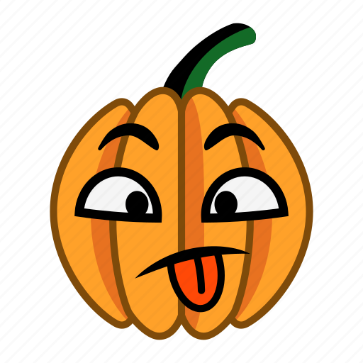 character, haloween, make faces, pumpkin, show, teasing, tongue icon