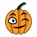character, cute, halloween, happy, pumpkin, smile, wink icon