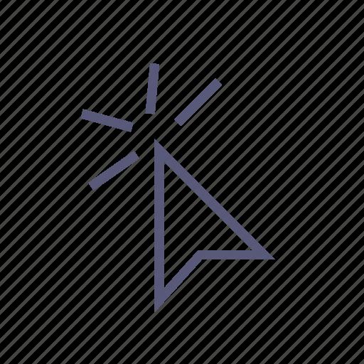 click, cursor, online, select, shipping icon