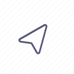 cursor, online shopping, route, shipping icon