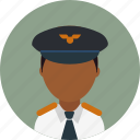 avatar, captain, male, man, person, pilot, profile