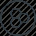 bio, contain, food, honey, organic, tile icon