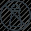 low, salt icon