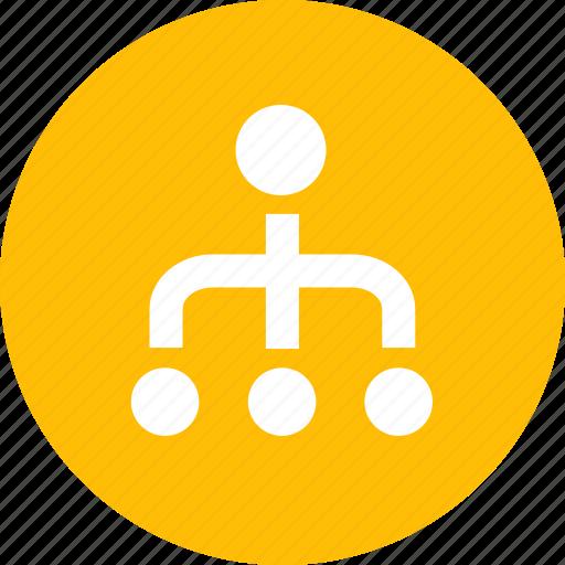 distribution, organization, relationship, structure icon