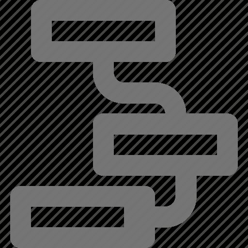 connect, flowchart, hierarchy, management, organization, structure, team icon
