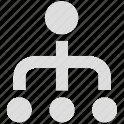 business, management, organization, structure, team icon