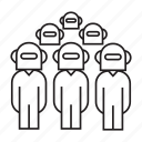 ai, artificial intelligence, group, robot worker, robots, team icon