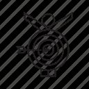 achievement, arrow, dart, focus, goal, target icon
