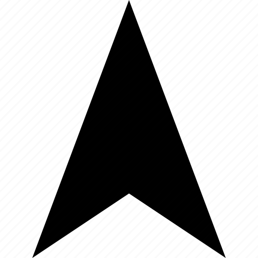 arrow, direction, gps, location, north, pointer icon