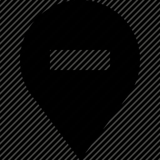 location, marker, minus, pin, remove icon