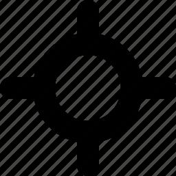 aim, bullseye, goal, objective, shooting, target icon