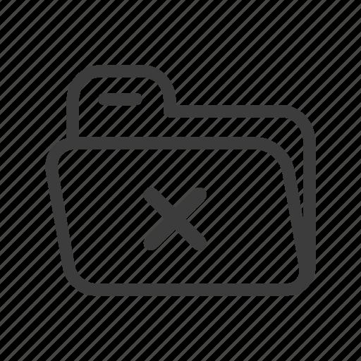 delete, file, folder, system icon
