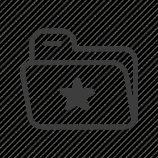favorite, file, folder, user icon