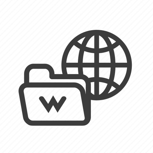 files, folder, internet, network icon