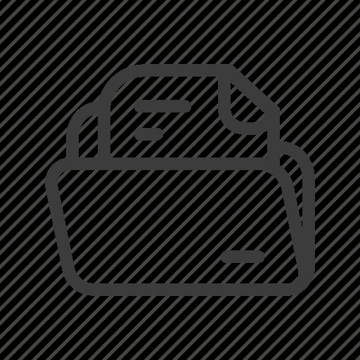 file, folder, paper, txt icon