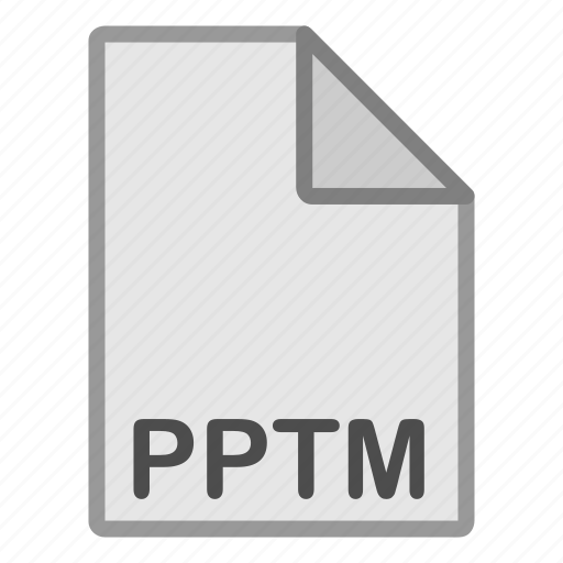 autodesk, extension, file, format, hovytech, pptm, type icon