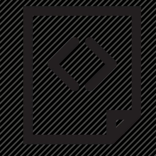 code, sheet icon