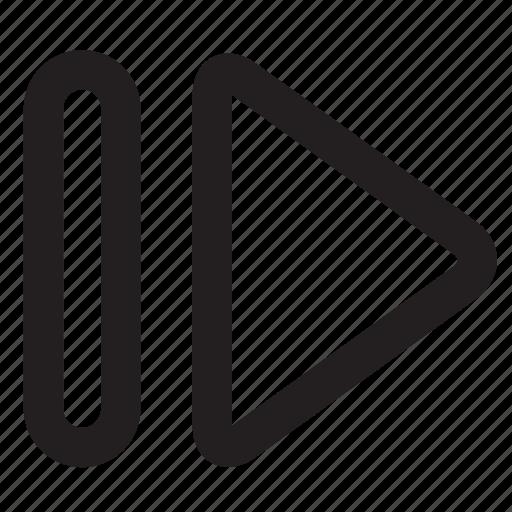 arrows, fast, forward, hamburger, navigation icon