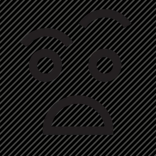 emoticons, face, grumpy, happy, man, people, person icon