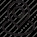 arrow, flag, flags, location, marker, pointer, printer, world icon