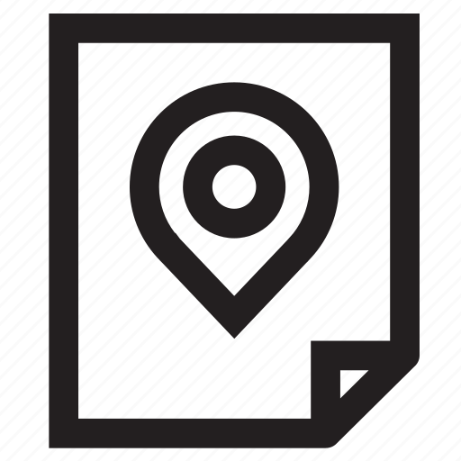 direction, document, folder, format, location, navigation icon