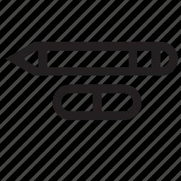 pen, rubber icon