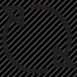 arrow, arrows, download, refresh, reload icon