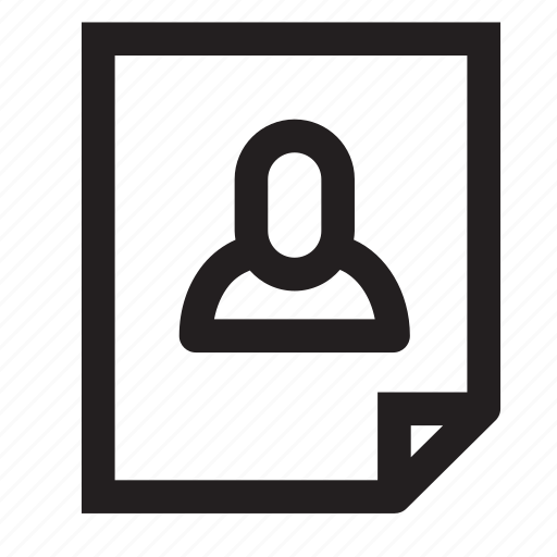 paper, user icon