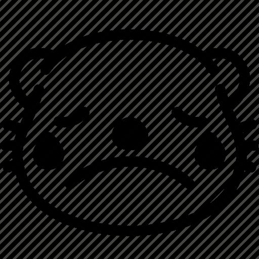 cry, emoji, emotion, expression, face, feeling, otter icon