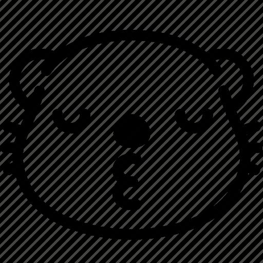 emoji, emotion, expression, face, feeling, kiss, otter icon
