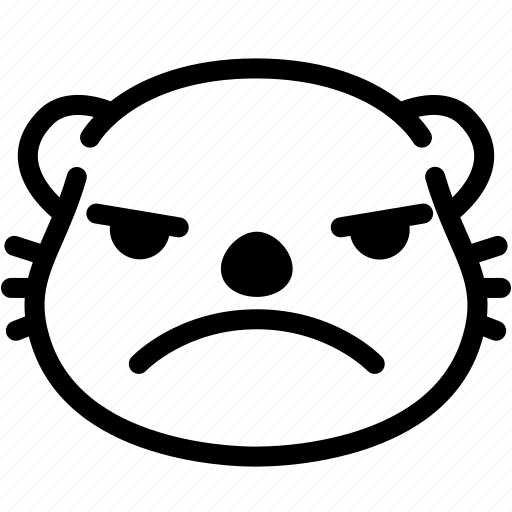 emoji, emotion, expression, face, feeling, mad, otter icon