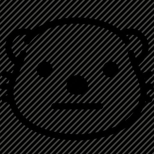emoji, emotion, expression, face, feeling, neutral, otter icon