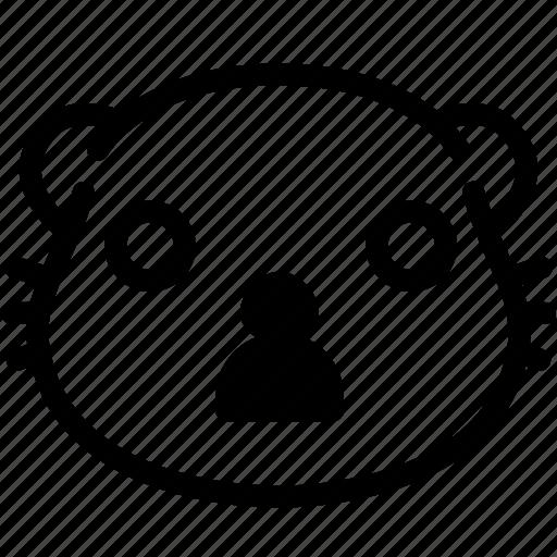 emoji, emotion, expression, face, feeling, otter, shocked icon
