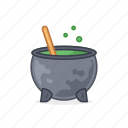 drink, hot, kitchen, pot, witches icon